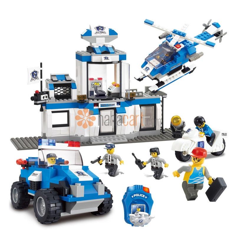 Giocattolo blocchi da costruzione, Dipartimento di polizia 492+ Parti