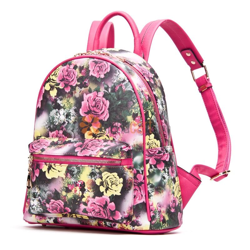 Flowers Style School Bag Backpack For Ladies