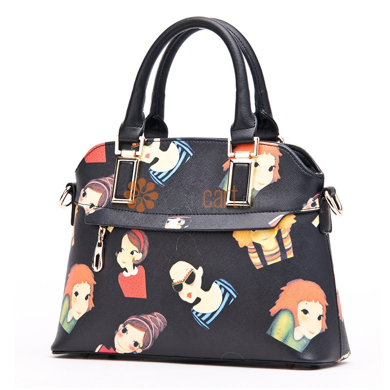 Cartoon Style Handbag Crossbody Shoulder Bag for Women