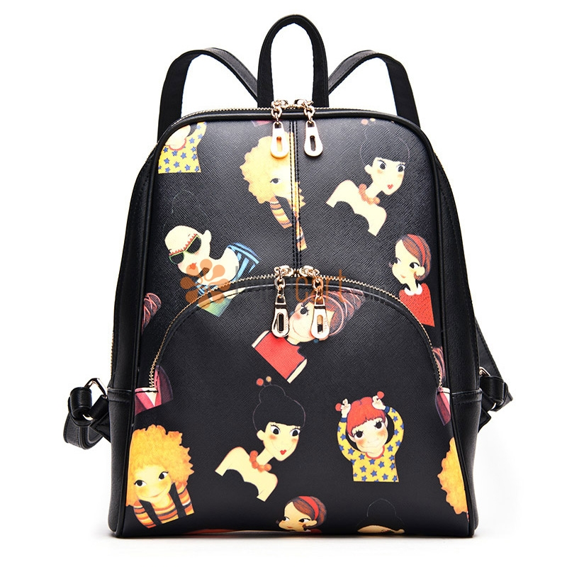 Cartoon Style School Bag Backpack For Ladies