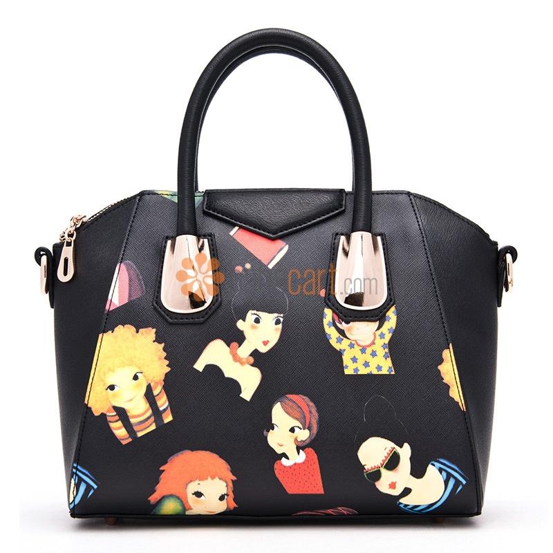 Cartoon Style Handbag Crossbody Shoulder Bag for Women