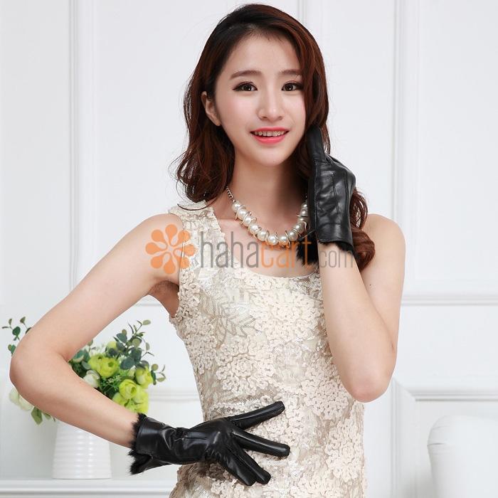 Winter Goatskin Warm Gloves for Women