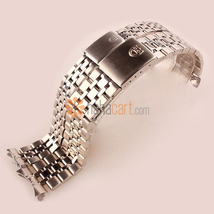 Cinturino orologio dell'acciaio inossidabile per Uomo Donna, Chiusura déployante