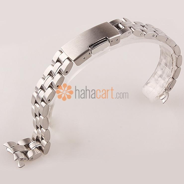 Cinturino orologio 14mm/16mm dell'acciaio inossidabile per Donne, Chiusura déployante