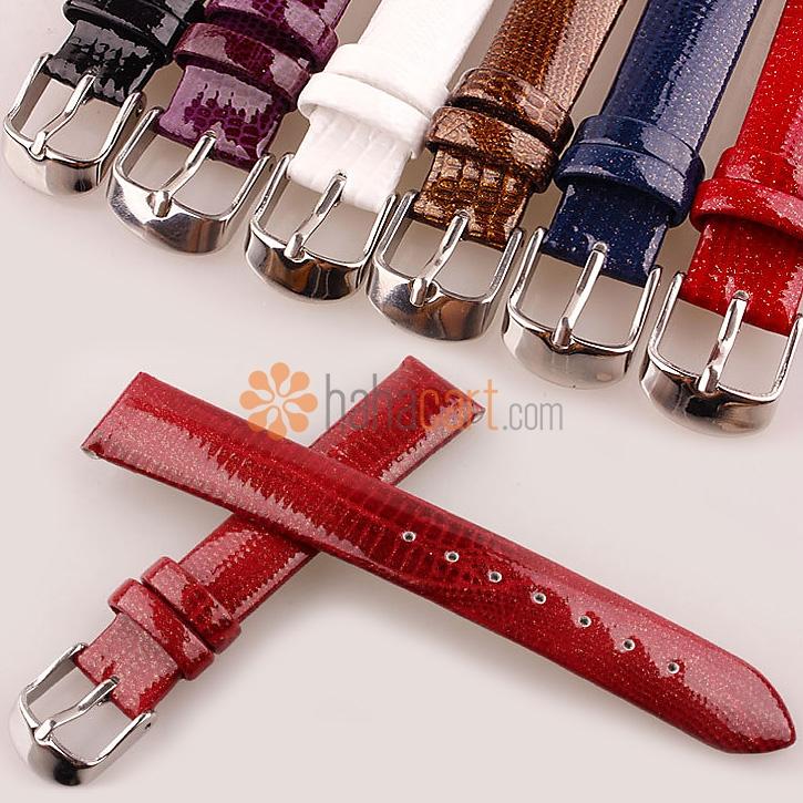 Cinturino orologio in vera pelle per Donne Uomini, Tipo di fibbia ad ardiglione, Larghezza 12mm~20mm