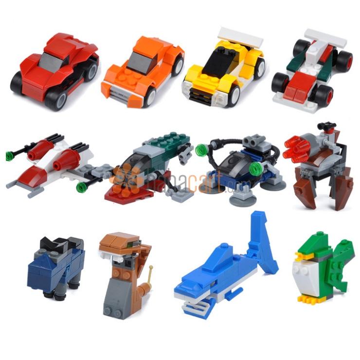 Blocchi di costruzione deformazione, 4-in-1 dei giocattoli, 100+ unità