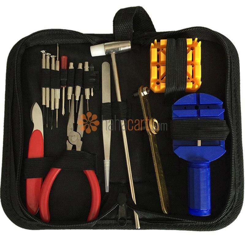 Kit di strumenti riparazione per orologi da polso 16-in-1, Strumenti cinturino