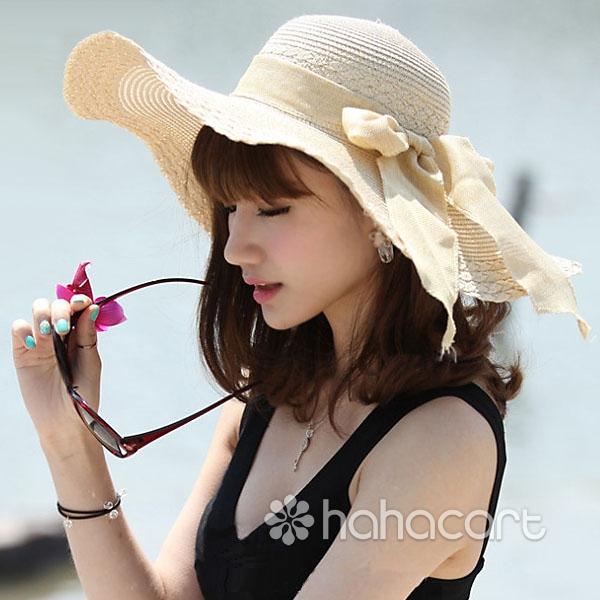 Cappello da sole alla per donne, Protezione UV, Cappello a tesa larga, Cappello di spiaggia sabbiosa