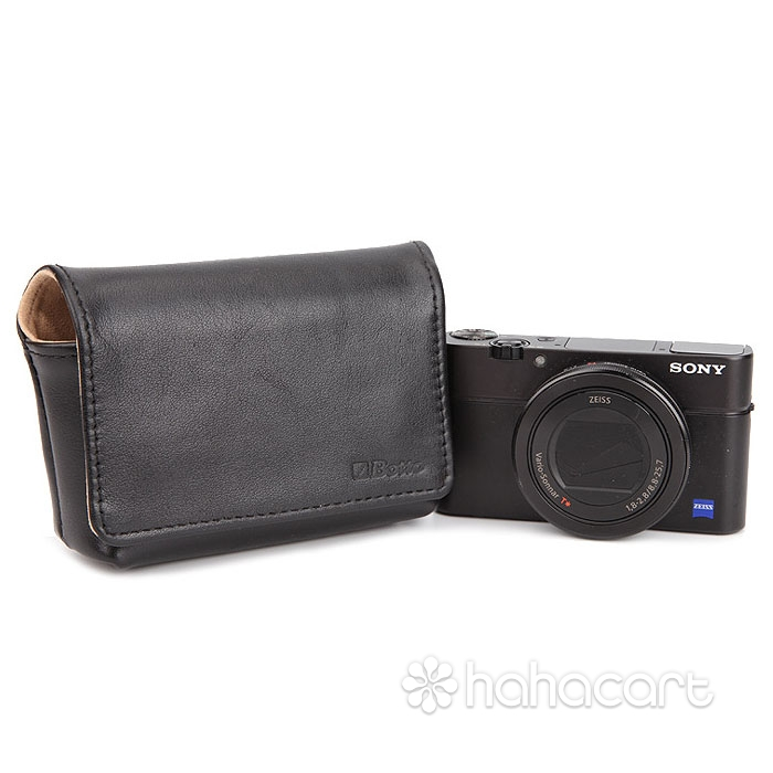 Pungă din piele originală pentru camere digitale, Sony RX100IV M4 RX100III M3 RX100II M2 RX100 HX60 HX90, Canon G7X G9X, Fuji X70, Ricoh GR GRII