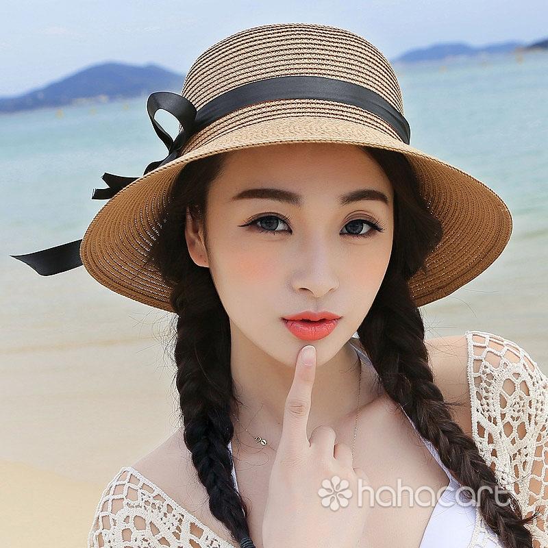 Pălărie de soare pentru femei, Protecție UV, Pălărie cu boruri largi, Pălărie de plaja nisipoasa de vară