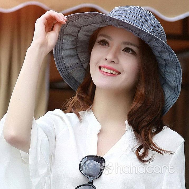Cappello da sole alla moda per Donne, Cappello a tesa larga, Cappello di spiaggia sabbiosa