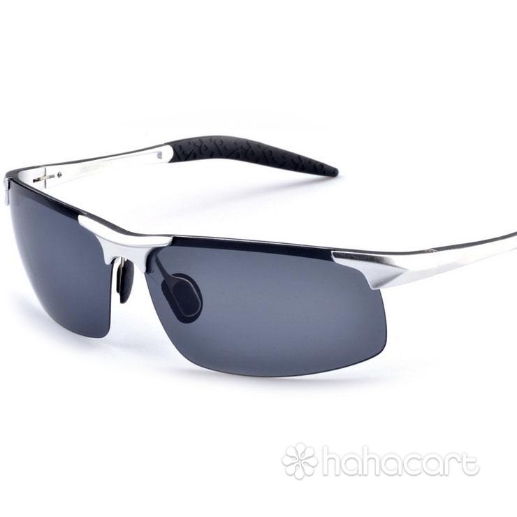 Ochelari de soare polarizat pentru bărbați, Antireflexie și UV400, Ochelari de soare pentru șofer [ Cadru de ochelari din aliaj aluminiu-magneziu ]