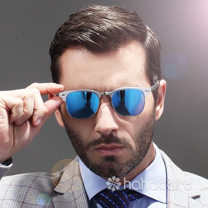 Occhiali da sole polarizzata per Uomini, UV400 e Antiriflesso, Occhiali da sole del driver, Struttura degli occhiali in lega di alluminio-magnesio