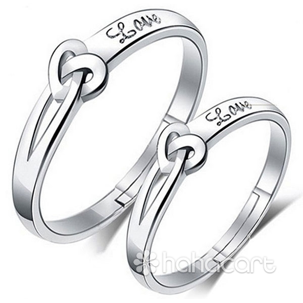 Inele de nuntă, Cuplu-inele, Material de argint S925, 1 x Inel (bărbați) + 1 x Inel (femei)