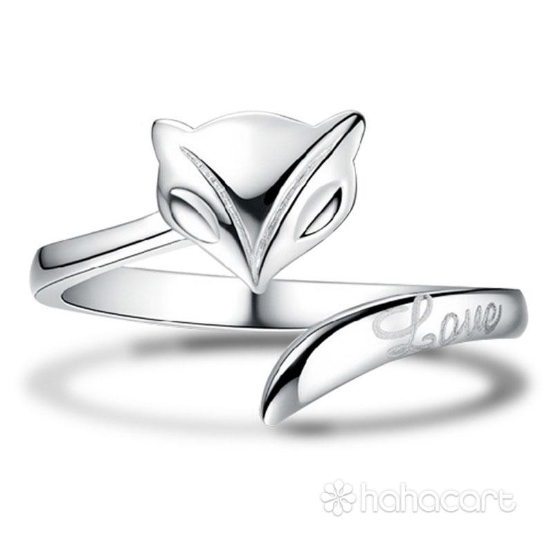 Gioielli d'argento, Anello delle donne - Forma della volpe
