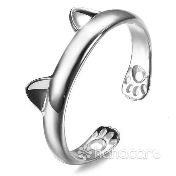 Gioielli d'argento, Anello delle donne - Orecchio di gatto