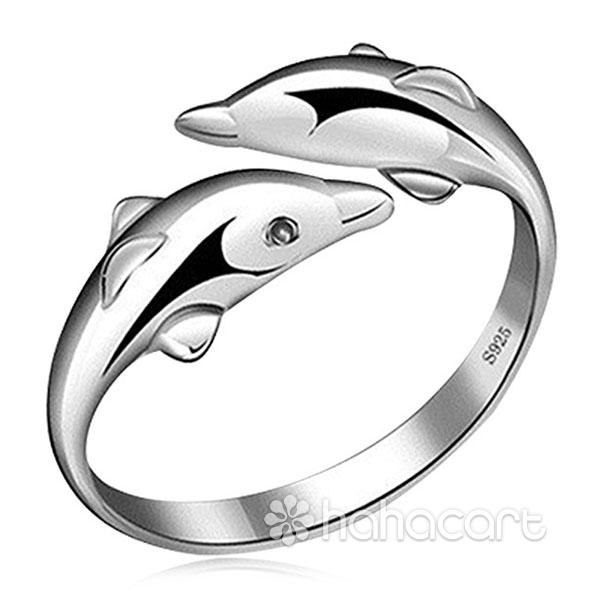 Gioielli d'argento, Anello delle donne - Delfino