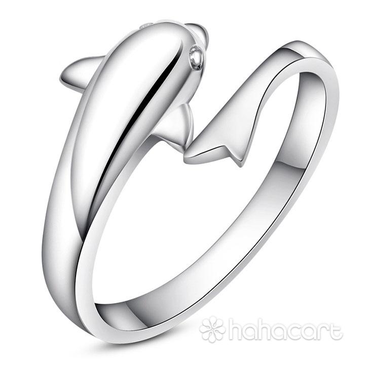 Bijuterii de argint, Inel pentru femei - Delfin