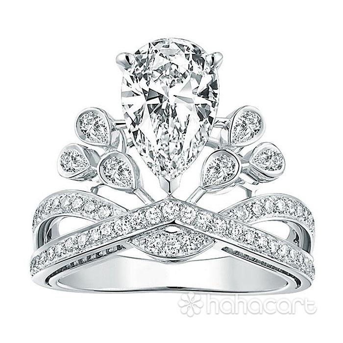 Zircon și Bijuterii de argint, Inel pentru femei [ Coroana imperială ]