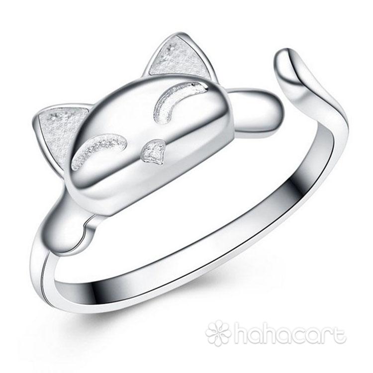 Gioielli d'argento, Anello delle donne - Gatto