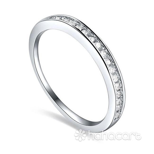 Anello delle donne, Materiale in lega e cristallo, Stile di diamanti imitazione