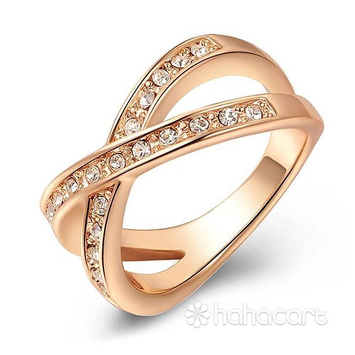 Acesorii de modă, Inel pentru Femei, Stilul de diamante imitație, Materiale din Aliaj și Cristal Austriac