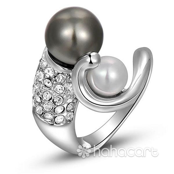 Inel pentru Femei, Stilul de diamante imitație, Materiale din Aliaj și Cristal