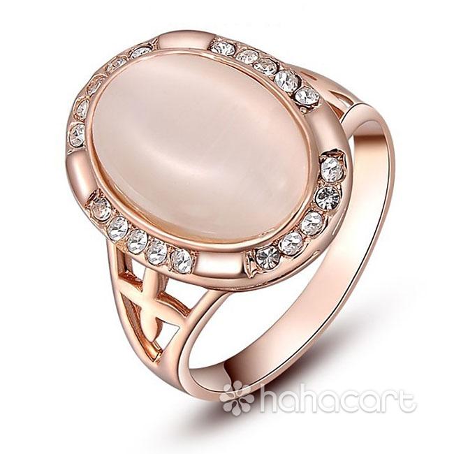 [ Opal ] Inel pentru Femei, Stilul de diamante imitație, Materiale din Aliaj și Cristal Austriac