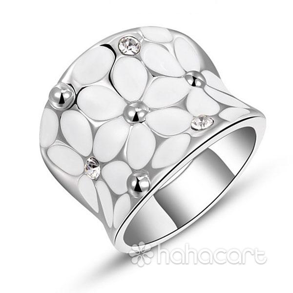 Inel pentru Femei, Stilul de diamante imitație, Materiale din Aliaj și Cristal Austriac