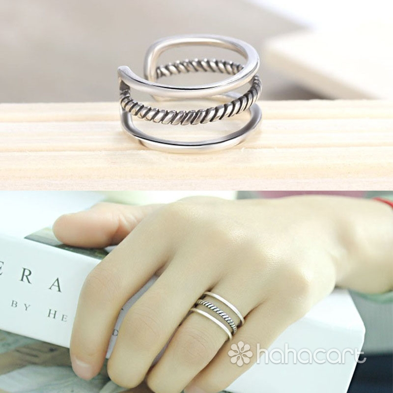 Gioielli d'argento, Anello delle donne - Linea Minimalista