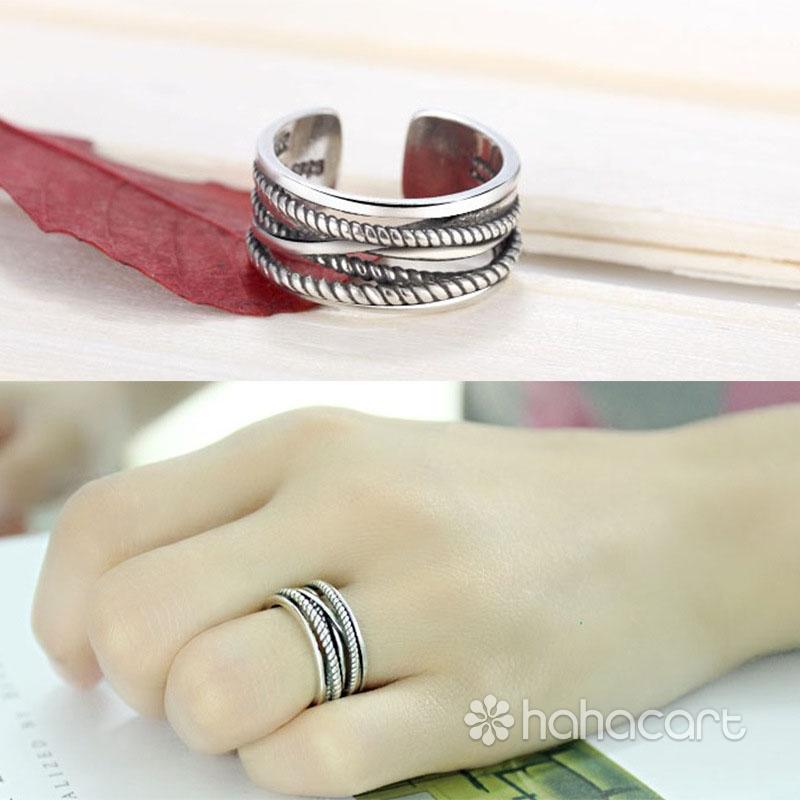 Bijuterii de argint, Inel pentru Femei - Linii minimaliste
