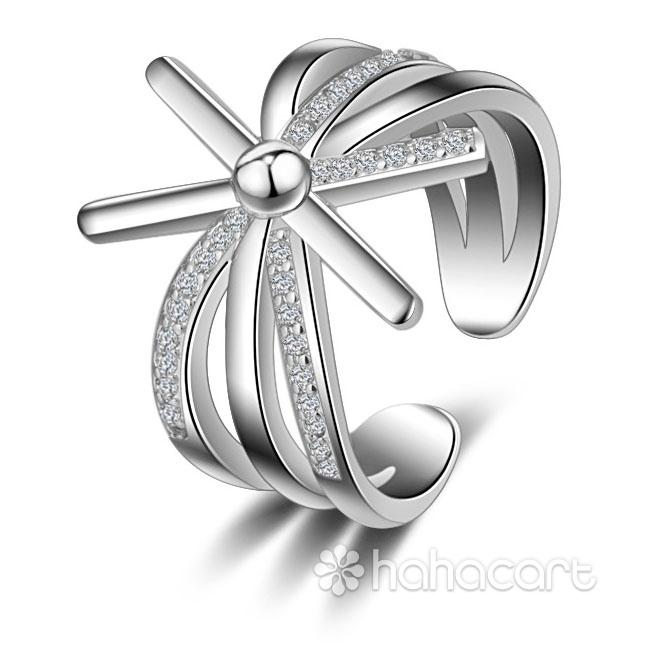 Gioielli d'argento e Zircone, Anello Donna - Totem del Sole