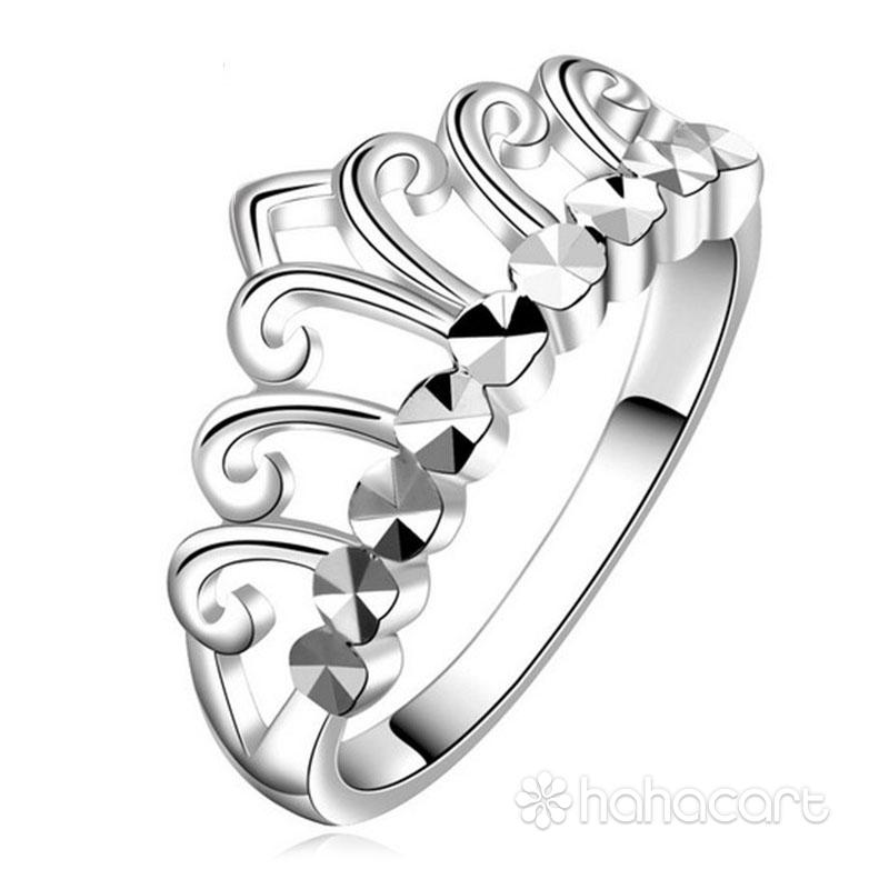 Bijuterii de argint, Inel pentru femei - Coroana imperială