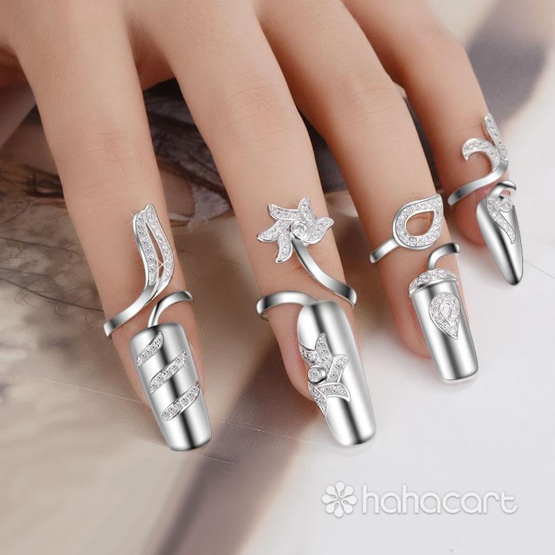 Bijuterii de argint, Inel pentru Femei, Trusa de inel de unghii
