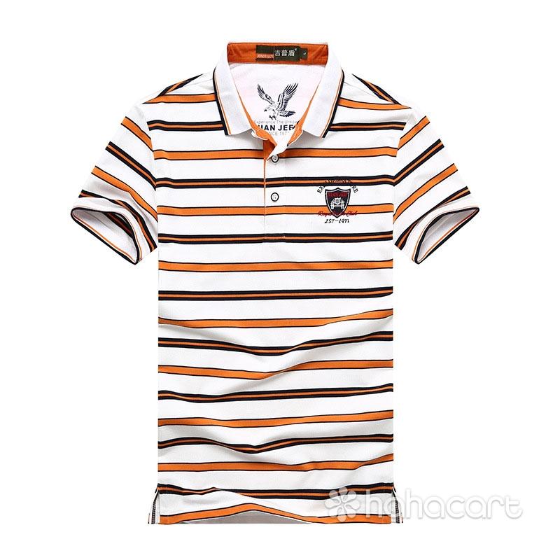 NIANJEEP Tricou pentru Bărbați, Cămaşă Polo de stilul dungi