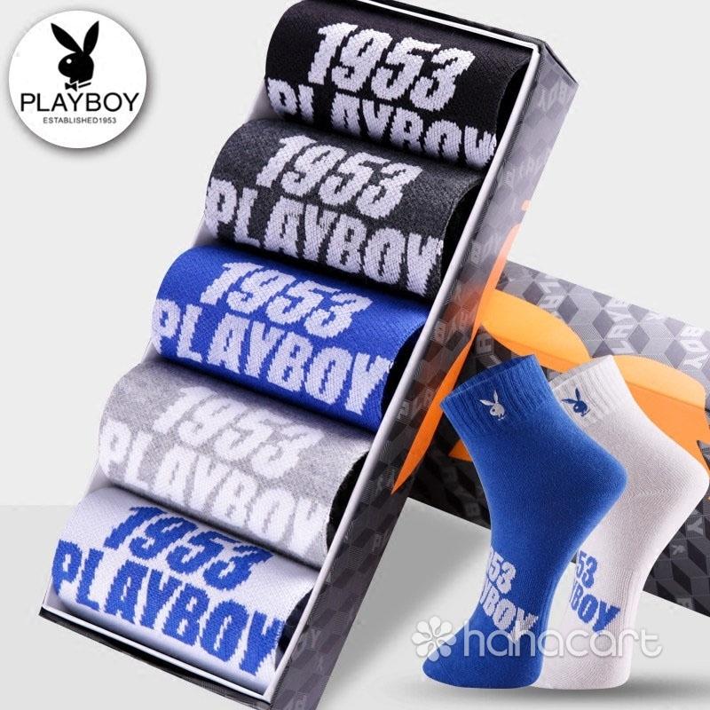 PLAYBOY Ciorap De Sport De 100% Bumbac - Kit de 5 bucăți