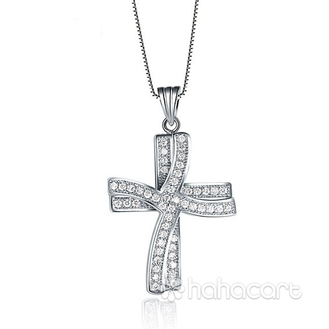 Collana Donna, Materiale in lega e zircone, Stile di diamanti imitazione