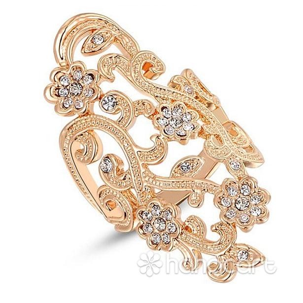 [ Floare de prune ] Inel pentru Femei, Stilul de diamante imitație, Materiale din Aliaj și Cristal Austriac