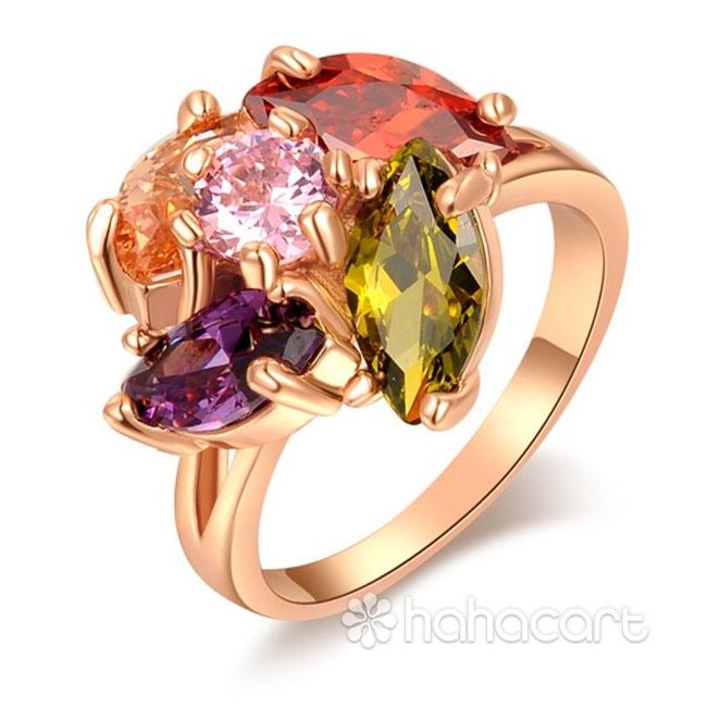 [ Picătură de ploaie ] Inel pentru Femei, Stilul de diamante imitație, Materiale din Aliaj și Zircon