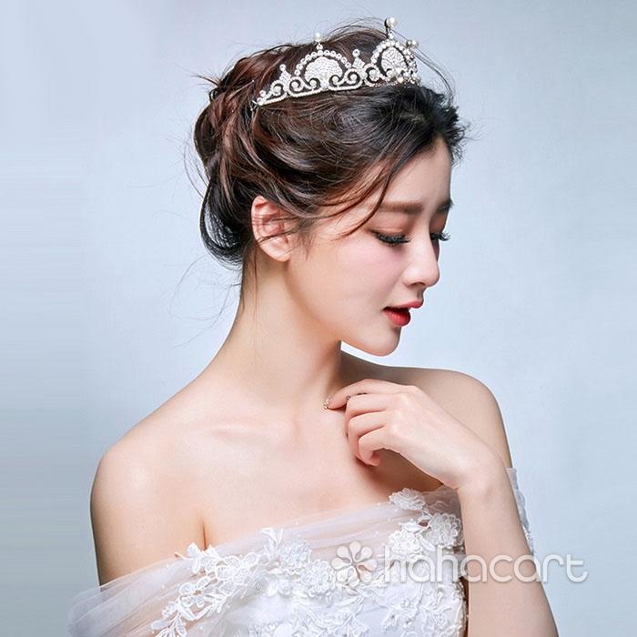 Accesorii pentru rochia de mireasa, Frizură pentru mireasa, Materiale din aliaj și zircon - Coroana imperială
