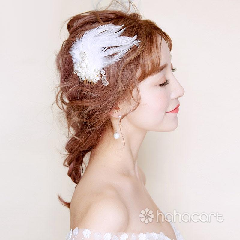 Accesorii pentru rochia de mireasa, Ac de păr de stilul penaj