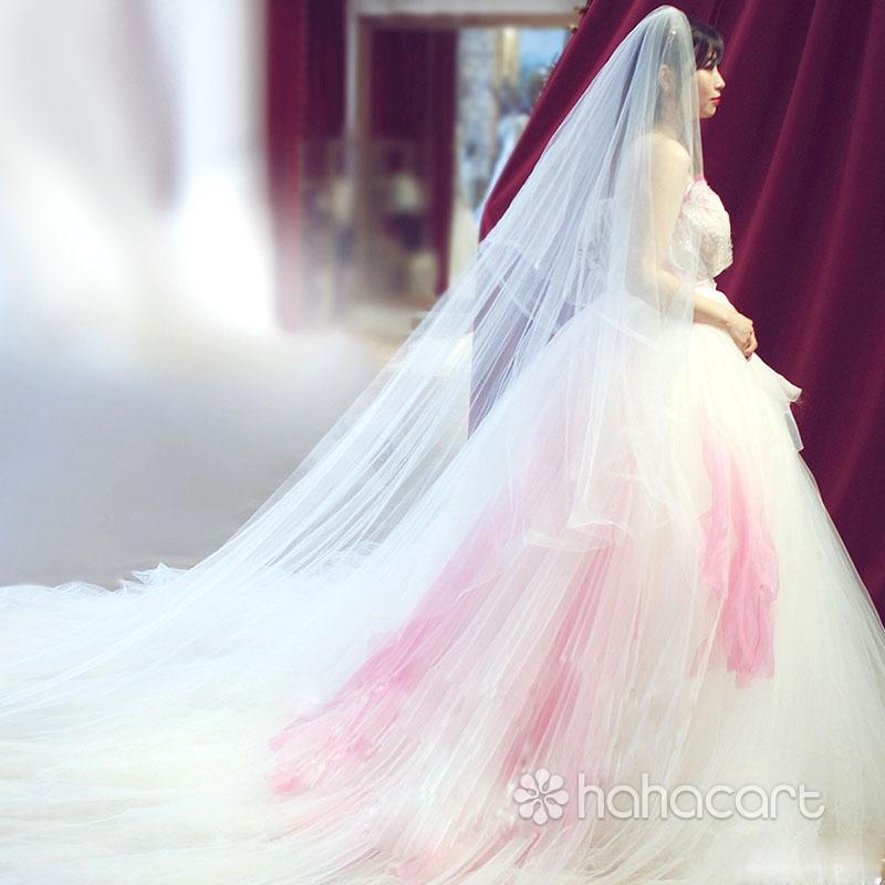 Accesorii pentru rochia de mireasa, Frizură pentru mireasa, Lungime voal 3m