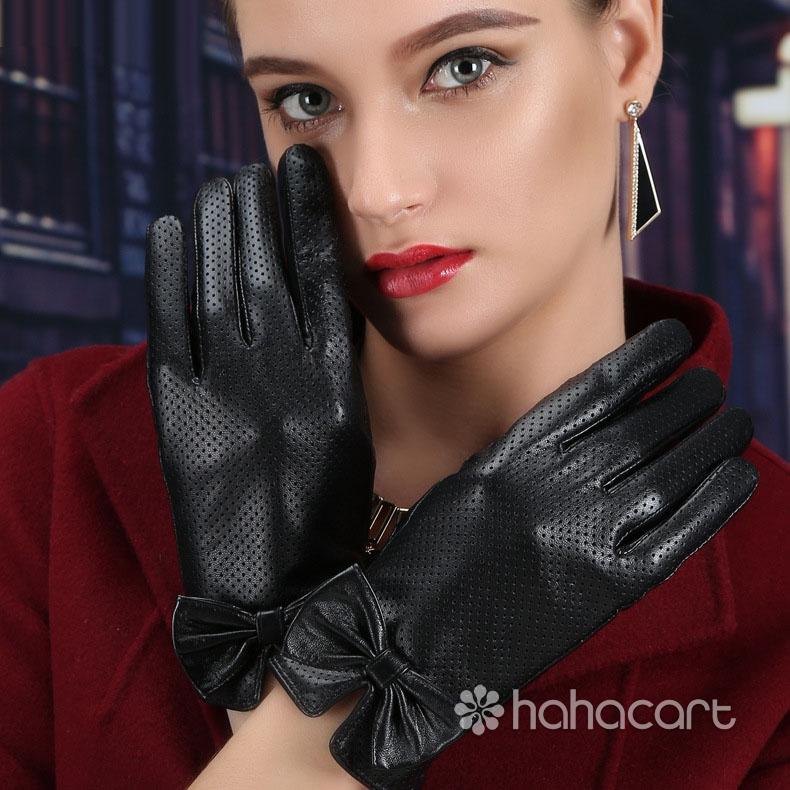 Fashion Trends Winter Warm Sheepskin Gloves