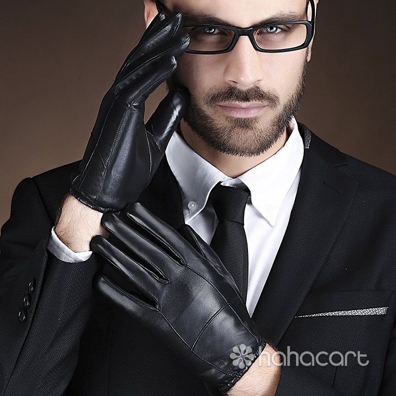 Touchscreen Gloves Sheepskin Driving Cycling Men's Gloves