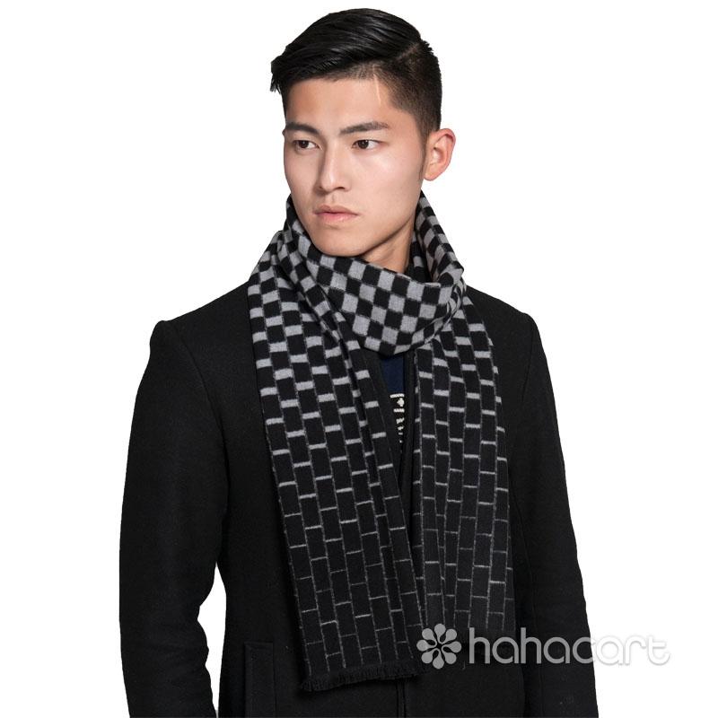 [ Collezione Autunno Inverno ] Materiale di seta gelso [ 190x30cm ] Sciarpa da Uomo, Uso a doppia-faccia