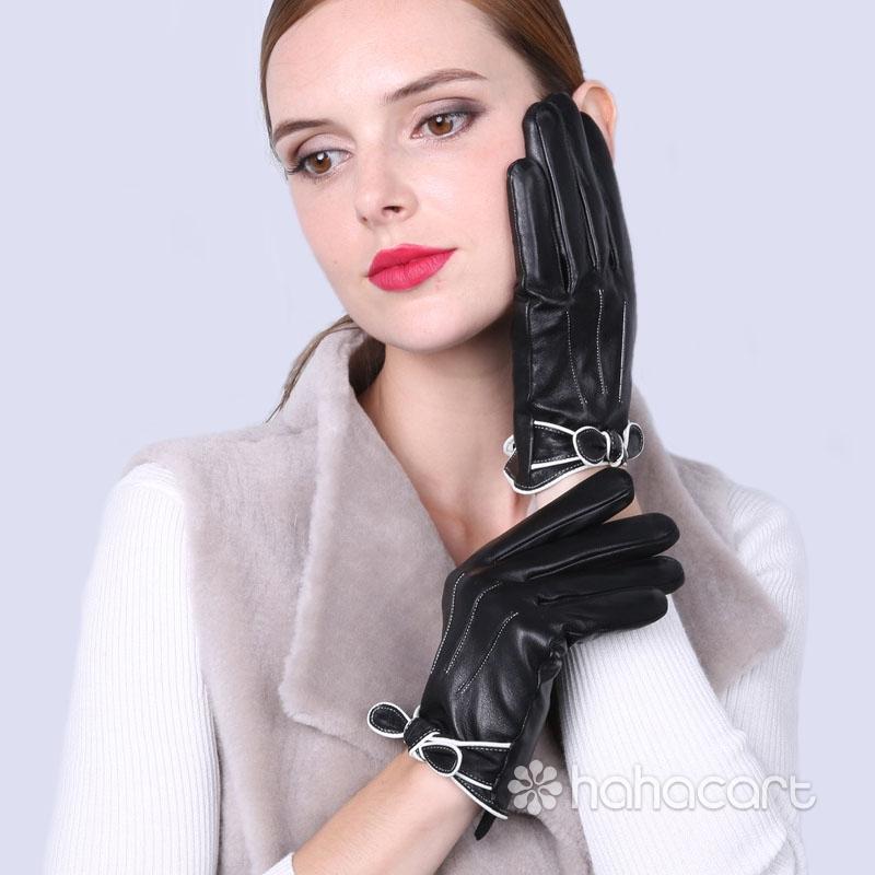 Zimske Tople Rukavice, Baršun Podstava, Funkcija Ekran Na Dodir, Ovčija Koža Ženski Rukavice