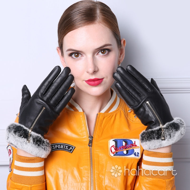 Mănuși de cald în timpul iernii, Blănuri de iepure, Mănuși din piele de oaie