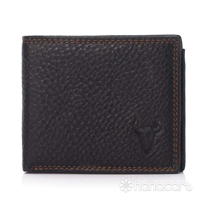 High Capacity Genuine Leather Men's Wallet Calfskin Material