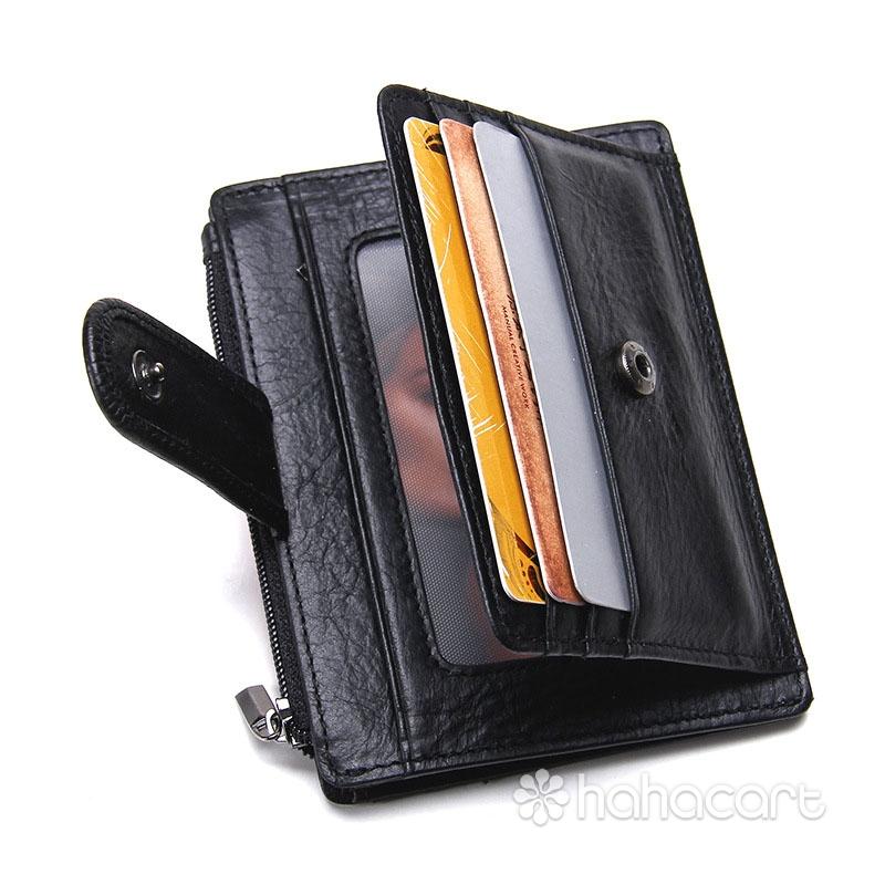Prava Koža i Visoki Kapacitet Torba za Kreditne Kartice